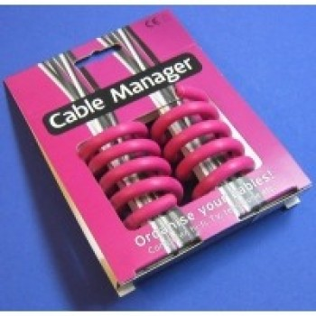 Cable Manager roz | Organizator cabluri