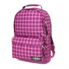 "EASTPAK YOFFA Charged Check Pink | Rucsac laptop 17"""