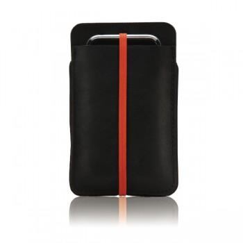 Husa de piele neagra ipod iphone