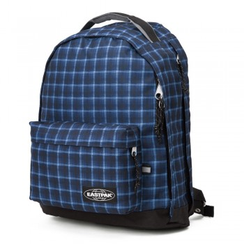 EASTPAK CHIZZO Charged Checked Blue | Rucsac laptop albastru 13""