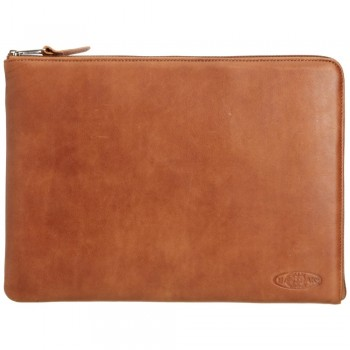 "FOLDER M SINGLE Russet | Husa laptop 15"" piele"