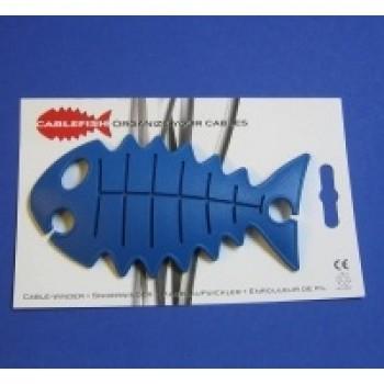 CableFish albastru | Organizator cabluri