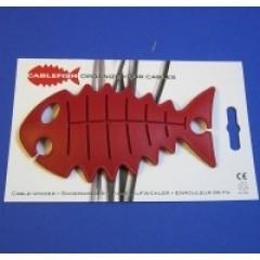 CableFish rosu | Organizator cabluri